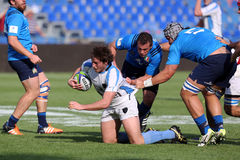 Ação do rugby Imagem de Stock Royalty Free