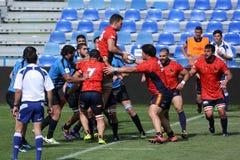 Ação do rugby Imagens de Stock