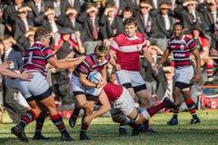 Ação do rugby da High School Imagem de Stock Royalty Free