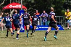 Cinzas Outeniqua do rugby do Scoreline da bola do jogador Foto de Stock Royalty Free