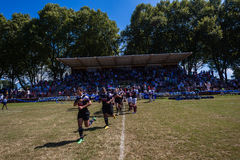 Funcionamento-Para fora invicto de Outeniqua do rugby Imagem de Stock Royalty Free