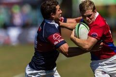 Rugby Framesby da ação da bola dos jogadores Foto de Stock Royalty Free