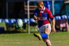 Rugby Framesby da bola do pontapé do Flyhalf do jogador Imagens de Stock