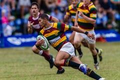 Rugby Paarl Gymn da ação da bola de centro do jogador Foto de Stock