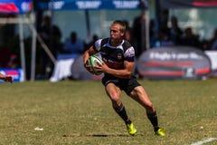 Rugby Outeniqua da bola do jogador Imagem de Stock