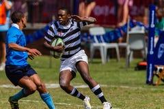 Rugby Selborne da ação da asa do jogador Imagem de Stock