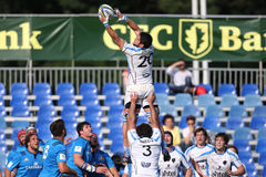 Ação do rugby - linha para fora Imagens de Stock Royalty Free