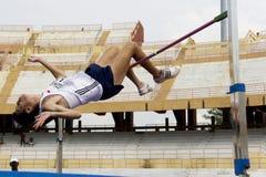 Ação do salto elevado dos homens Foto de Stock Royalty Free