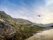 Ação do salvamento nas montanhas Imagens de Stock Royalty Free