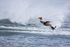 Ação do slalom das mulheres - abril Coble Eller Fotografia de Stock Royalty Free