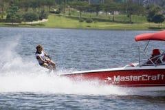 Ação do slalom das mulheres - clementina Lucine Fotografia de Stock Royalty Free
