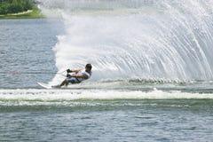 Ação do slalom dos homens - Aaron Larkin Imagem de Stock Royalty Free