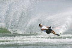 Ação do slalom dos homens - Javier Julio Fotografia de Stock Royalty Free