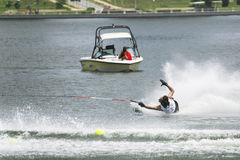 Ação do slalom dos homens - Javier Julio Imagens de Stock Royalty Free