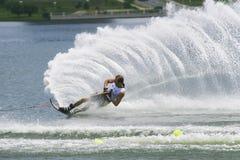 Ação do slalom dos homens - Parsons de Nick Imagens de Stock