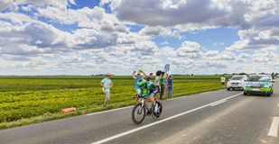 Ação do Tour de France Imagens de Stock