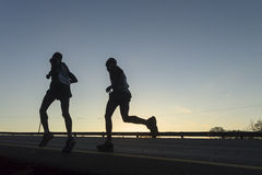 Ação dos corredores de maratona Fotografia de Stock Royalty Free