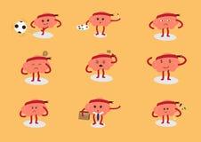 Ação dos desenhos animados do cérebro Imagem de Stock Royalty Free