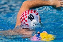 Ação dos nacionais do polo aquático Foto de Stock