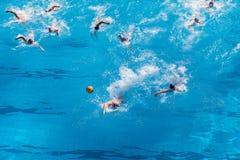 Ação dos nacionais do polo aquático Imagens de Stock