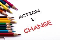 Ação e mudança Foto de Stock Royalty Free