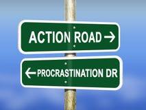 Ação e procrastinação Imagens de Stock Royalty Free