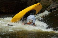 Ação em uma competição do caiaque. Foto de Stock Royalty Free