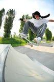 Ação louca do skate Imagem de Stock