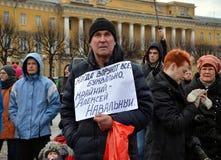 Ação na memória de Boris Nemtsov Imagens de Stock