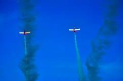 Ação no céu durante um airshow Imagem de Stock Royalty Free