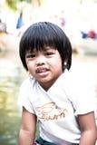 Ação tailandesa asiática do retrato do menino Fotos de Stock Royalty Free