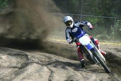 Ação transversal de Moto Fotos de Stock Royalty Free