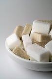 Açúcar branco e marrom Foto de Stock
