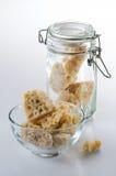 Açúcar da rocha de Brown Fotografia de Stock