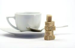 Açúcar de Brown imagens de stock