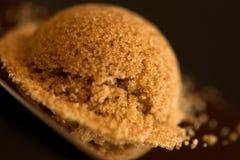 Açúcar de Brown redondo Fotografia de Stock Royalty Free
