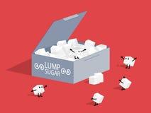 Açúcar de protuberância. Imagem de Stock Royalty Free