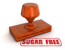 Açúcar do carimbo de borracha livre (trajeto de grampeamento incluído) Fotografia de Stock