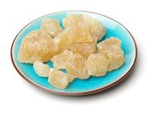 Açúcar do cristal de Brown Fotos de Stock Royalty Free