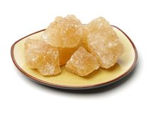 Açúcar do cristal de Brown Fotografia de Stock Royalty Free