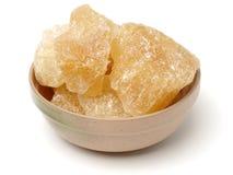 Açúcar do cristal de Brown Foto de Stock