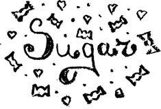 Açúcar do esboço Imagem de Stock
