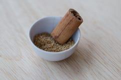 Açúcar e canela de Brown Imagens de Stock