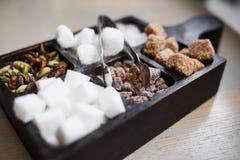 Açúcar em uma caixa Fotos de Stock Royalty Free