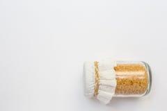 Açúcar no frasco de vidro Foto de Stock