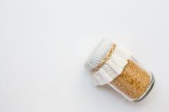 Açúcar no frasco de vidro Fotografia de Stock Royalty Free