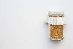 Açúcar no frasco de vidro Fotos de Stock