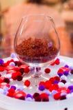 Açafrão em um vidro Fotografia de Stock Royalty Free
