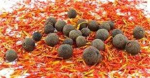 açafrão, pimenta da Jamaica preta Imagem de Stock Royalty Free