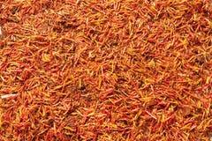 Açafrão vermelho como a textura Fotos de Stock